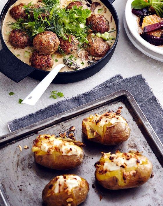 Ofenkartoffeln mit Ziegenkäse