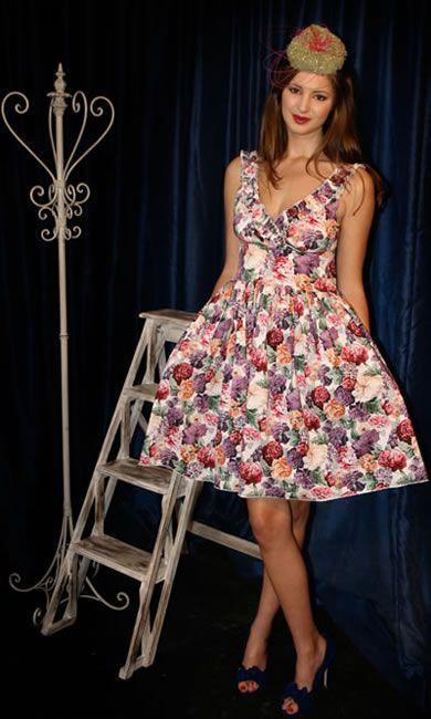 Frankie Frill Dress - Floral