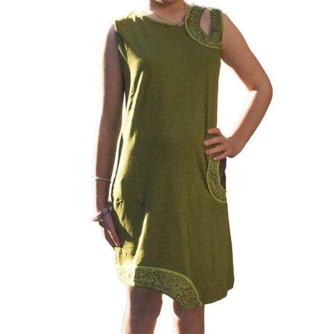Green Nepalese Girls Dress