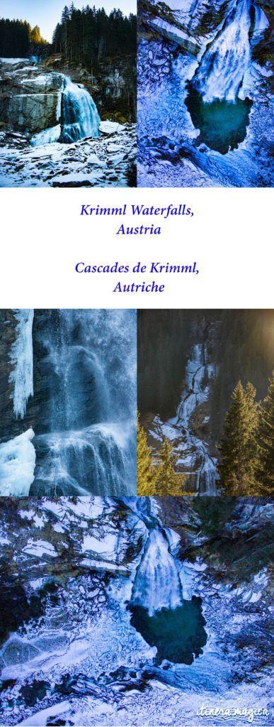 Sublimes cascades de Krimml, Autriche. Itinéraire romantique en Autriche : un voyage de rêve entre Salzbourg, Innsbruck, le château Hohenwerfen, les cascades de Krimml et un hôtel spa romantique.