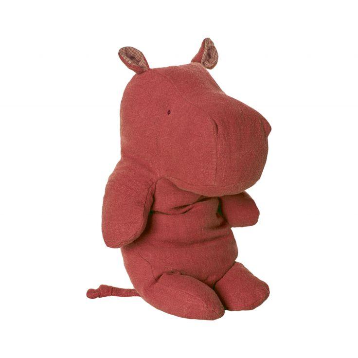 doudou peluche hippopotame rouge maileg safari firends La prunelle de mes yeux ♡ rue Daguerre, Paris. www.laprunelledemesyeux.com