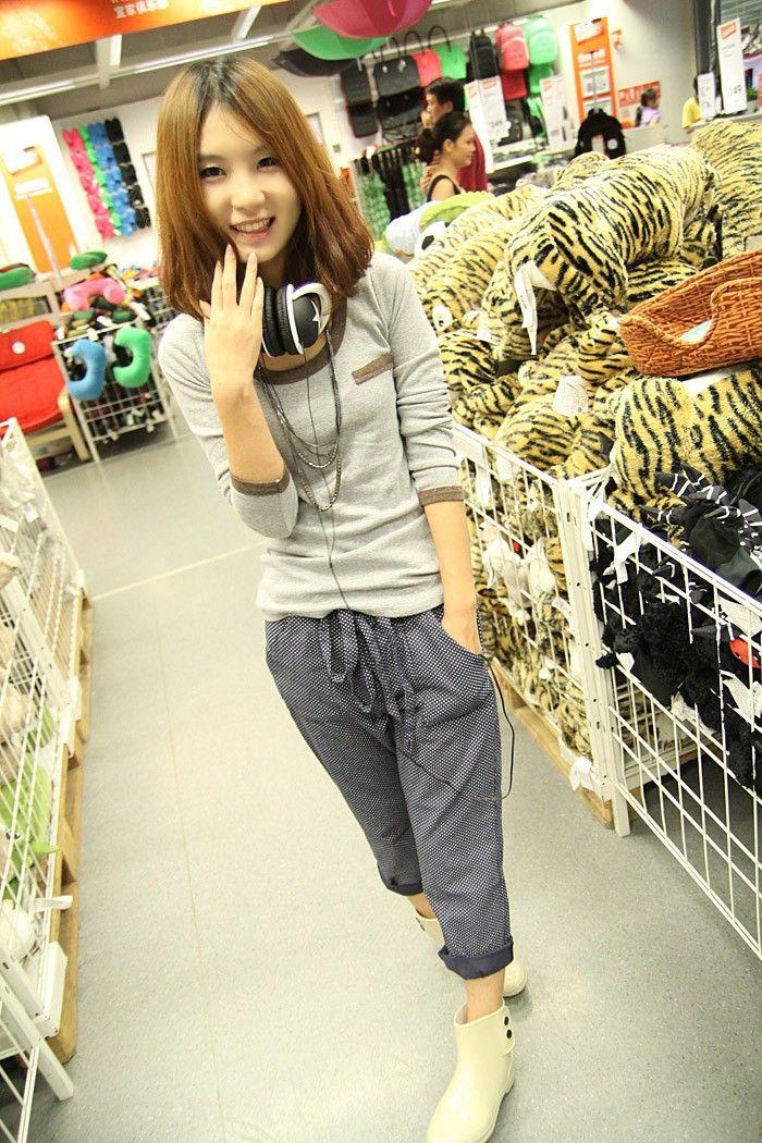 Nueva moda de primavera y verano del Cuello de la manga larga delgada de algodón mujeres T Shirt Casual Chica  Precio: $ 49.900 Talla: Un tamaño