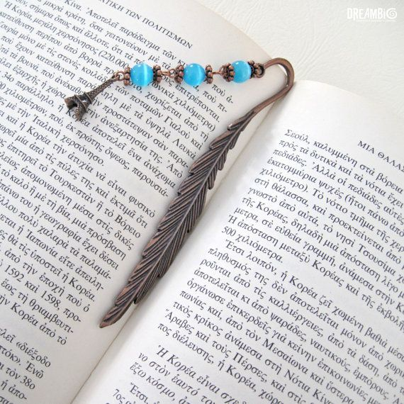 Metal Bookmark unique bookmarks  unique gift by DreamBigHandmade