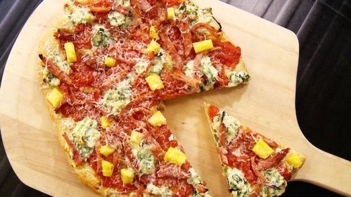 Pizza hawaïenne de luxe