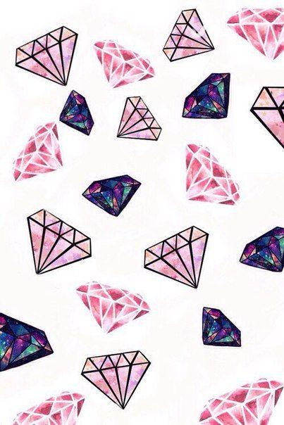 Фон бриллианты на белом фоне.
