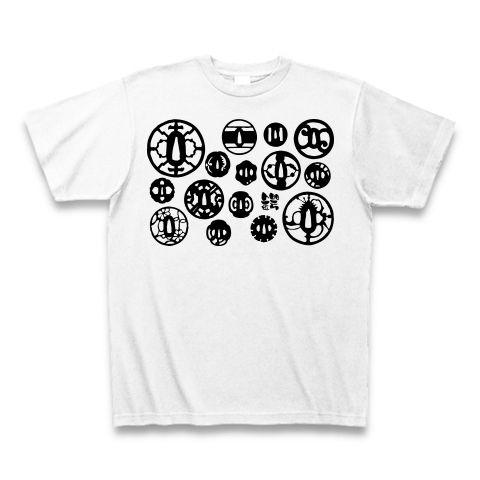 鍔(モノクロバージョン) Tシャツ(ホワイト)