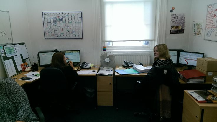 Lara at her desk!