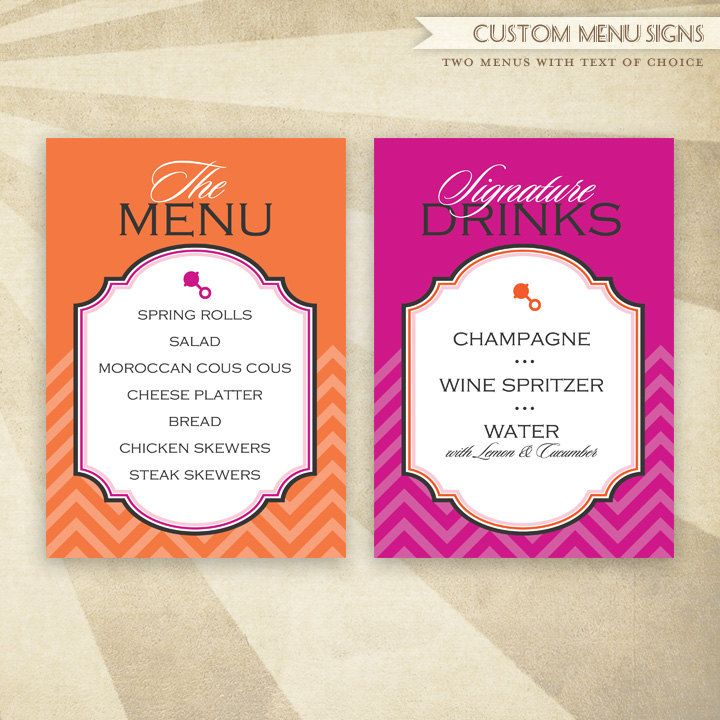 Baby Shower Buffet Menu: 42 Best Orange And Pink Baby Shower Theme Images On
