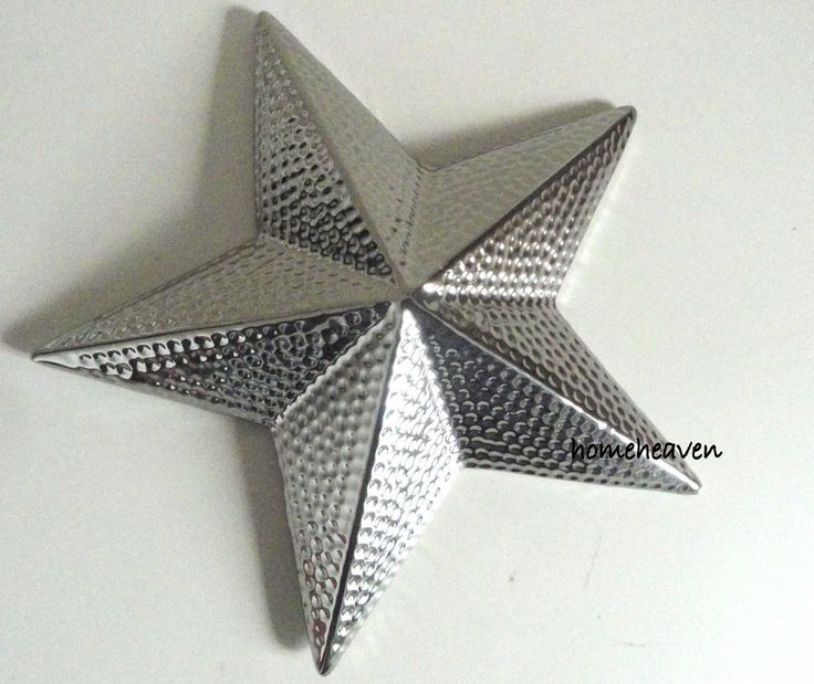 Silver Star Ornament 3d Ceramic Modern Contemporary Wall Hanging ...
