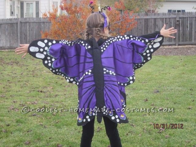 Purple Majesty Butterfly DIY Costume for a Girl… Enter Coolest Halloween Costume Contest at http://ideas.coolest-homemade-costumes.com/submit/