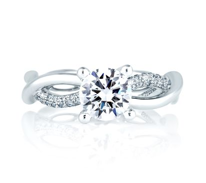 Style No # : ME1646 Collection : Seasons of Love® Center Stone : Round Setting : Pavé Style : Designer Price starting from : $3,170 (excluding center diamond) Diamond Carat Weight (without center) : 0.32