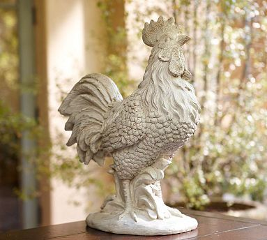 Large Ceramic Roosters For Sale Thrifty Parsonage Living