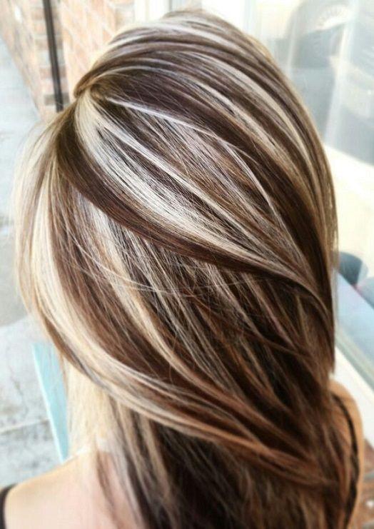 Brown Hair Blond High Lights