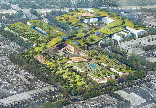 Originally published on Green Building Elements. Sitting between Apple's Infinite Loop headquarters and the spaceship-like Apple Campus 2 in Cupertino, California is the failed Vallco Shopping Mall…
