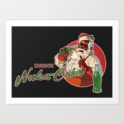 Drink Nuka Cola Art Print by Skeleton Jack - $17.68