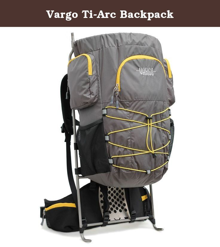 Vargo Ti-Arc Backpack. Finally, the next step in external frame backpack evolution-an ultralight pack with traditional external frame support. The Vargo Ti-Arc ultralight external frame backpack combines the best features of internal and external frames for an unparalleled support-to-weight ratio of any pack. At its core is a formfitting titanium alloy frame with an ergonomically designed lumbar plate to provide excellent load transfer to the hips and sag-free comfort. A streamlined 36…