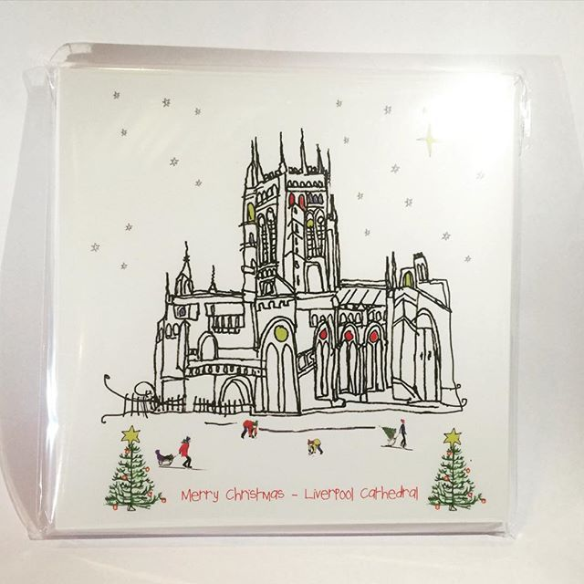 Take a look at our new Liverpool Cathedral Christmas Cards by local artist Freida McKitrick! #liverpoolcathedralshop #liverpoolcathedral #cathedralshop #shop #giftshop #gifts #liverpool #cathedralchristmas #christmas2015 #christmascards #cards