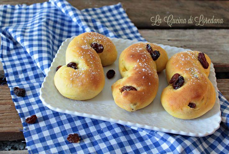 Panini dolci con uvetta di Santa Lucia