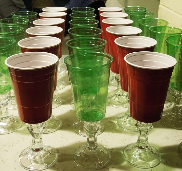 Superior Redneck Christmas Party Ideas Part - 11: Redneck Cups.....I Made These For Our Christmas Party In Red