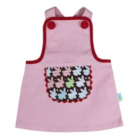 Oobi Baby Minnie Pinafore Dress - Pink  Again pair with leggings and a skivy for winter.