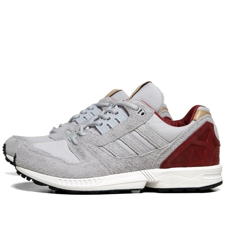 Adidas ZX8000 (Clear Grey & Mars Red)