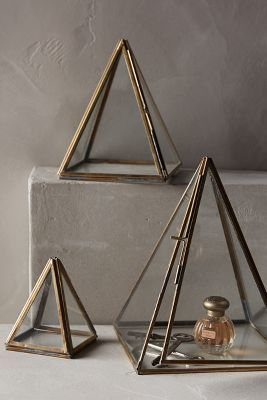Anthropologie Glass Pyramid Display Cases #anthroregistry