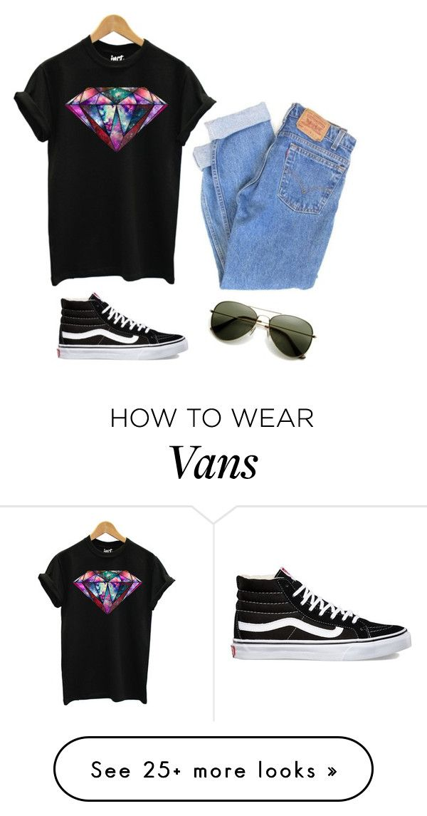 """Untitled #618"" by lejla-sabanovic on Polyvore featuring Levi's and Vans"