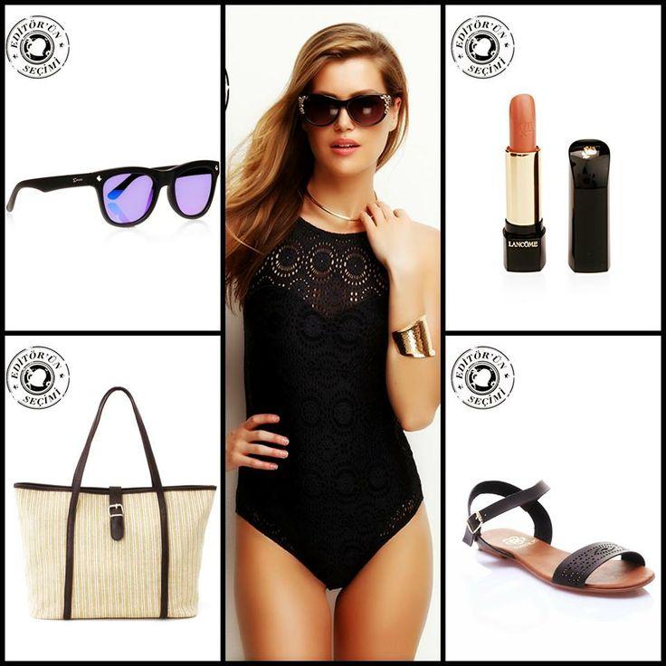 Yaz geliyor, sizi plajın yıldızı yapacak bu kombini deneyin. #swimwear #moda #markafoni #stil #editorunsecimi #sokakstili #parfum #dress #editorspick #fashion #shoes #streetstyle #accessoriesoftheday