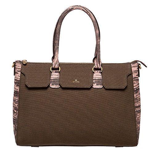 J.ESTINA Women NEW EASY Dote Bag 24K Gold from Korea Gorgeous Bag / Brown