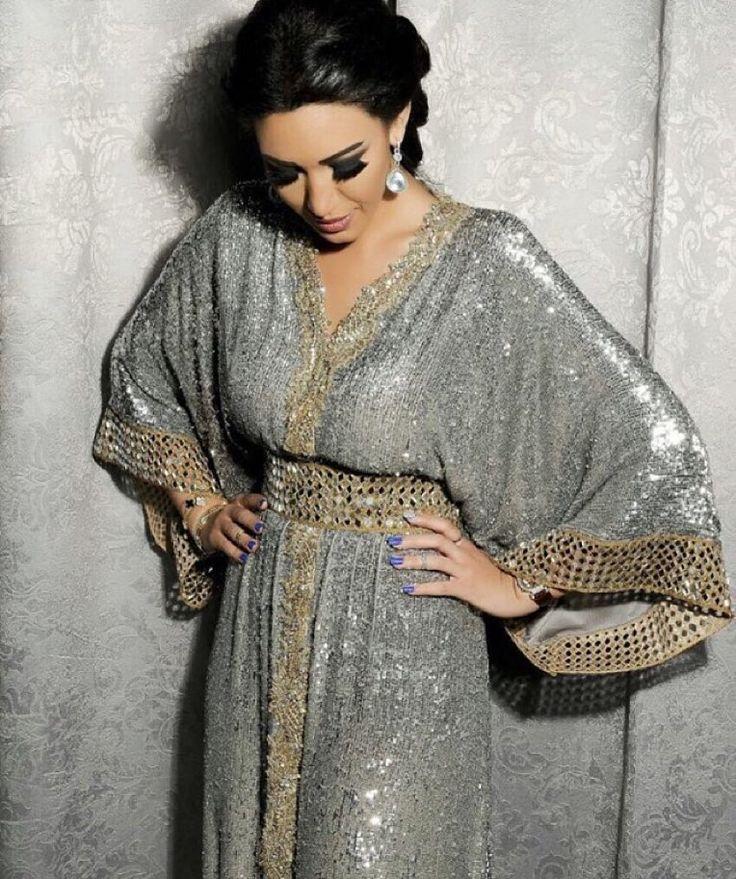 @asmalmnawar 's Caftan is gorgeous #love this Elegant #caftan #gold #style with #details #silver #royal #white perfect for a #bride or #wedding #opulent #luxury #elegance #bridal #dress #fashion #kaftan #couture #fabulous #style #fablux #luxury #فاشن #قفطان #موضه #morocco #ksa #dubai #abudhabi #usa #uae
