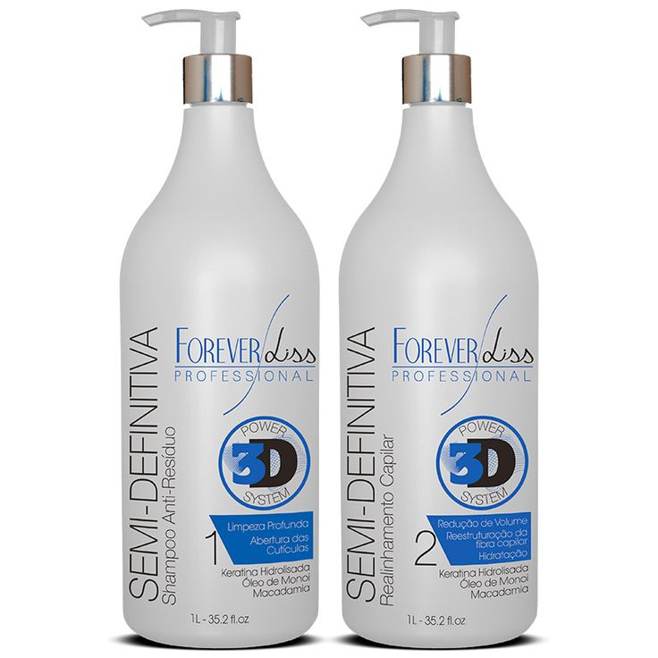 Forever Liss Escova Semi Definitiva Power 3D System Kit 2x1litro