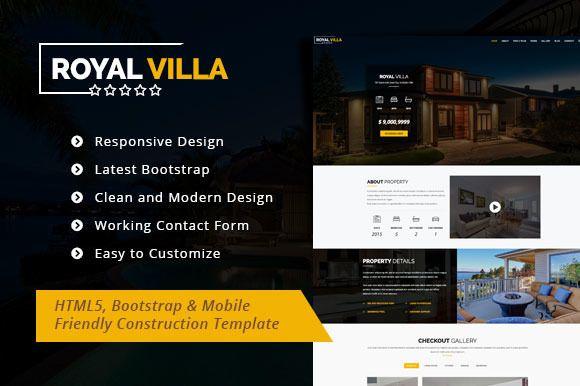 Royal Villa - Single Property Theme by disenadrostudio on @creativemarket