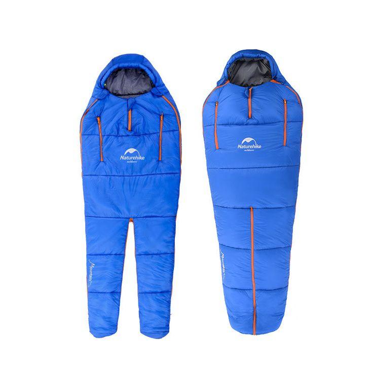 Naturehike de camping à double patchwork forme paresseux de sac de compression sac de couchage en coton unique