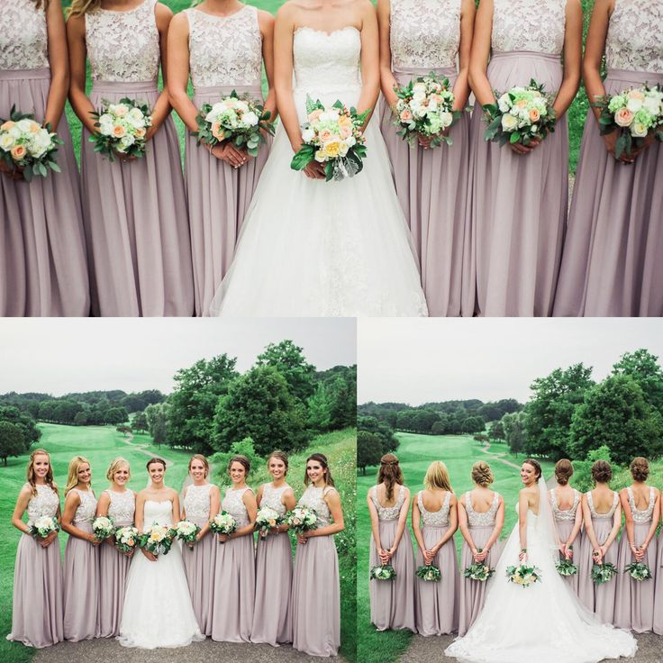 Kate's girls looked truly amazing in their bridesmaid dresses (Item No.: 0116054) from FHFH collection! (Lace top in ivory, chiffon skirt in YSCH46, a customized color picked by the bride)