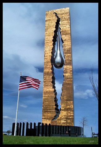 Tear Drop Memorial for 9/11- Bayonne, NJ Honoring The Victims following the collapse of #WorldTradeCenter Twin Towers (Two of the 4 Targets of #911) Remembering and Honoring the Heroes of 9-11-2001