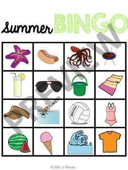 Summer Leveled Bingo Game for Special... by The Autism Vault | Teachers Pay Teachers