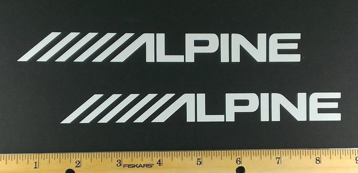 Two (2)  Alpine Audio Vinyl Decals/Stickers - 12 Colors to choose.