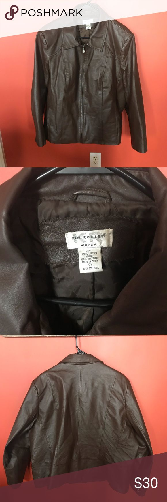 Ann Rogers brown zip up coat size 2x Ann Rogers brown zip up coat size 2x Jackets & Coats Blazers