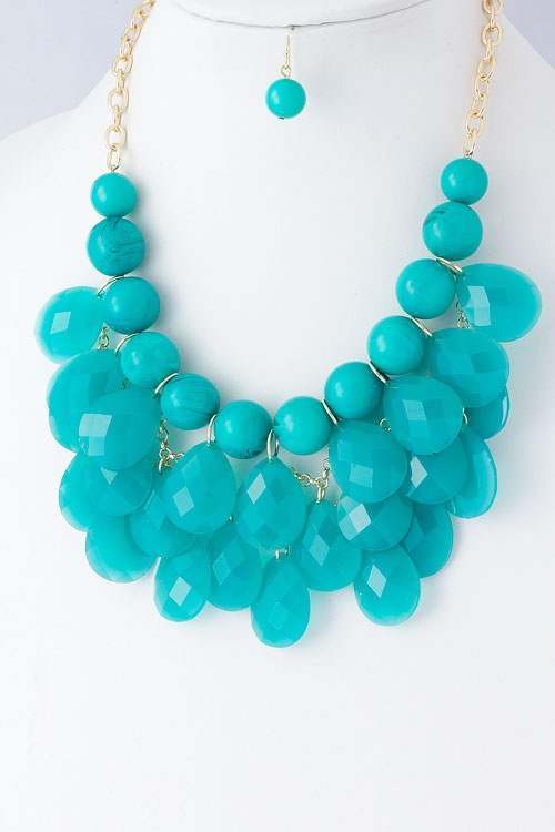 Turquoise Bubble Necklace-