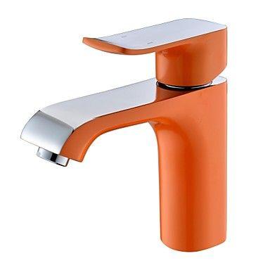 Hedendaagse+Oranje+Schilderen+Een+Hole+enkel+handvat+badkamer+wastafel+kraan+–+EUR+€+86.39