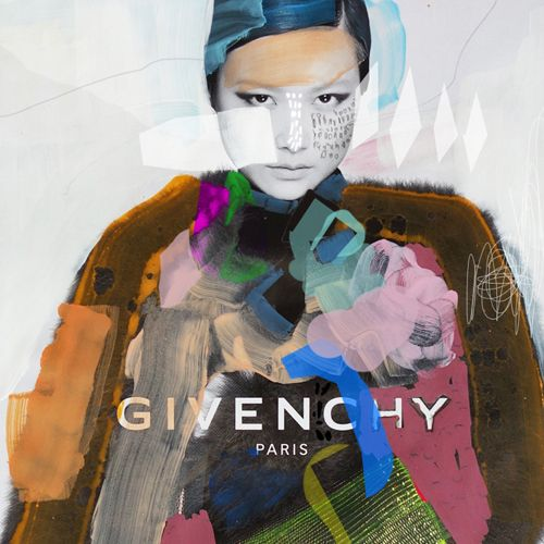 fashion illustration + collage on paper / erin flannery [erinart.net] #givenchy