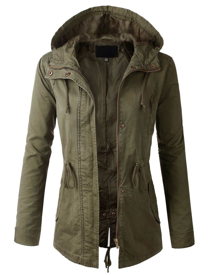 Olive Parka Jacket Womens