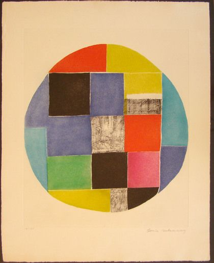 Etching by Sonia Delaunay (untitled)