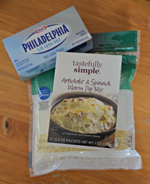 Tastefully Simple Dip.  You can also add in some cooked chicken and roll up in crescent rolls and bake.  Yum!!