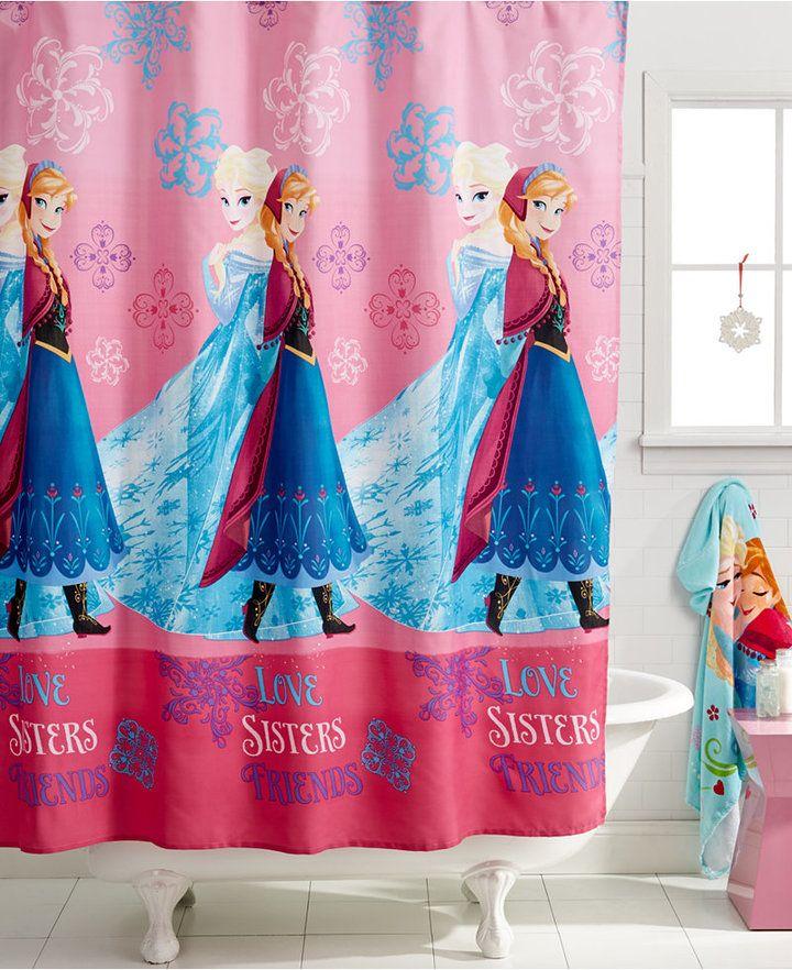 T_T Disney's Frozen, Snowflakes Microfiber shower Curtain Bedding #homedecor #homedesign #homedecorideas #bathroom #bathroomdesign #bathroomdecor #bath #children #kids #frozen #elsa #anna #homesweethome