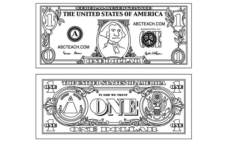 Dollar Bill 720 450 Pixels Coloring Pages Pinterest