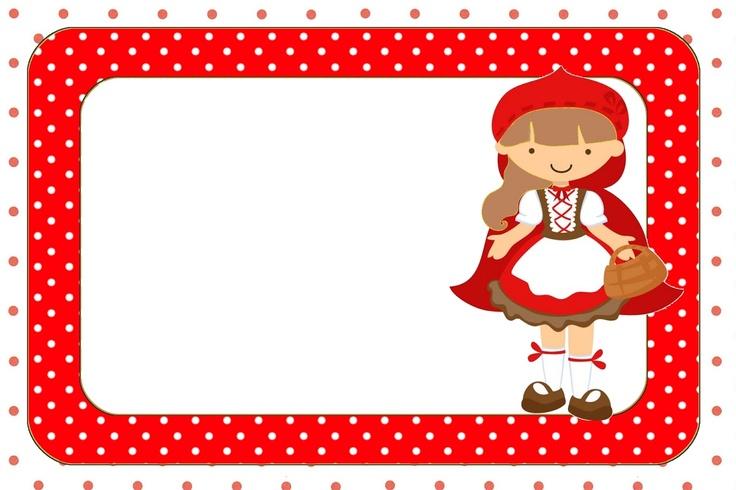 Moldura Convite e CartãoChapeuzinho Vermelho: Riding Hoods, Rótulo Para, Little Red Riding Hood, Red Riding Hood, Moldura Convit, Para Convit, Moldura Para, Kits Completo, Cartão Chapeuzinho Vermelho