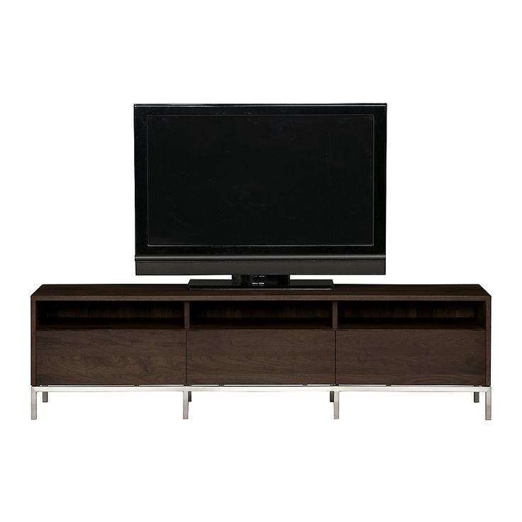 can be used to stow electronic equipment with three drawers side by side for closed storage the pearson media console is a crate and barrel exclusive