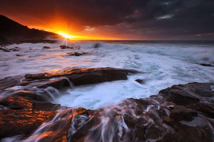 Fire In The Sky. - Apollo Bay, Great Ocean Road.  Darren J.