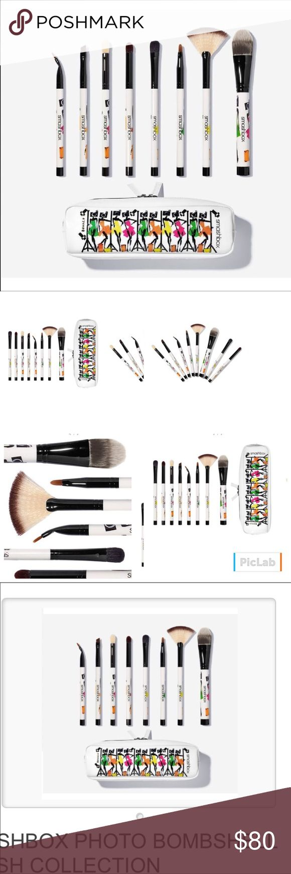 🌸🆕Smashbox Photo Bombshell Brush Set🌸 Swipe, sweep, line, define and blend your way to photo-ready perfection with this set of 8 limited-edition brushes designed by Instagram star artist Donald Robertson! (A $175 value!) Includes: Foundation Brush #13, Fan Brush #22, Angled Brow Brush #12, Lip Brush #6, Matte Shadow Brush, Shadow Brush, Definer Brush #15, Arced Liner Brush #21 and zippered bag shown. Sold out online! Sephora Makeup Brushes & Tools